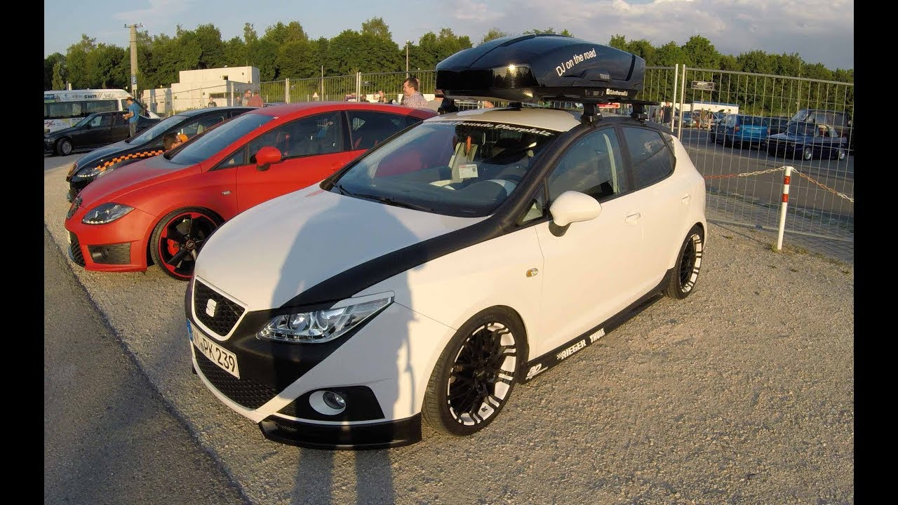 seat ibiza 6j sabi tuning show car with thule jet box oxigin wheels walkaround youtube. Black Bedroom Furniture Sets. Home Design Ideas