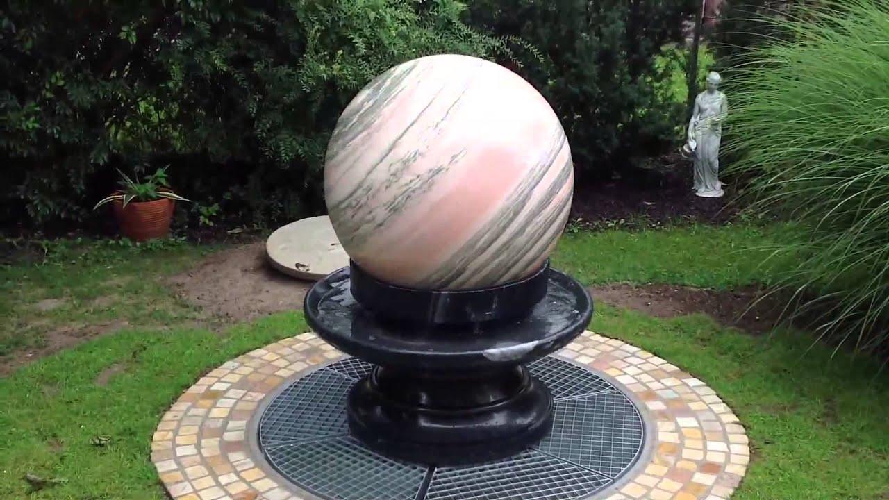 Sfera di pietra fontane da giardino fontana di pietra youtube - Fontane da giardino in pietra ...