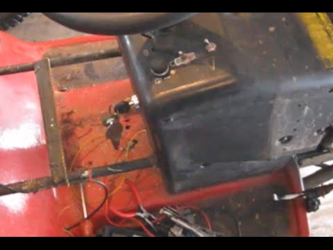 Wiring a Push Button+key switch on the murray Wide Body offroad Tractor