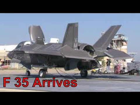 F 35 Arrives at Eglin Air Force Base, Florida