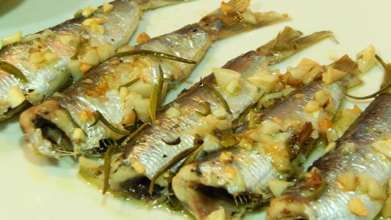 c mo hacer sardinas al horno con ajo y romero youtube