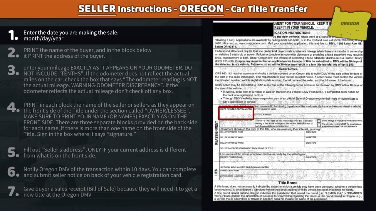 Transfer Oregon Le Er Instructions Family Car Ers