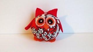 DIY Fabric Owl Plush Toy - Pinterest Handmade Plush