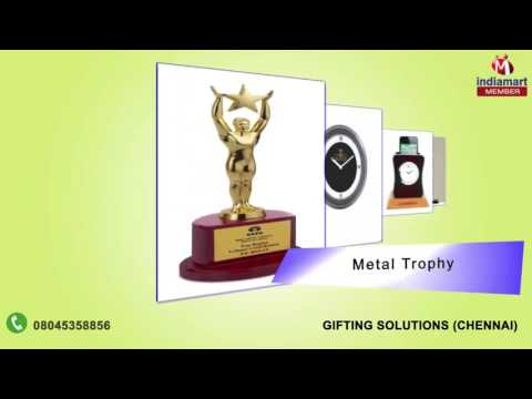 Designer Wall Clock and Metal Trophy by Gifting Solutions, Chennai