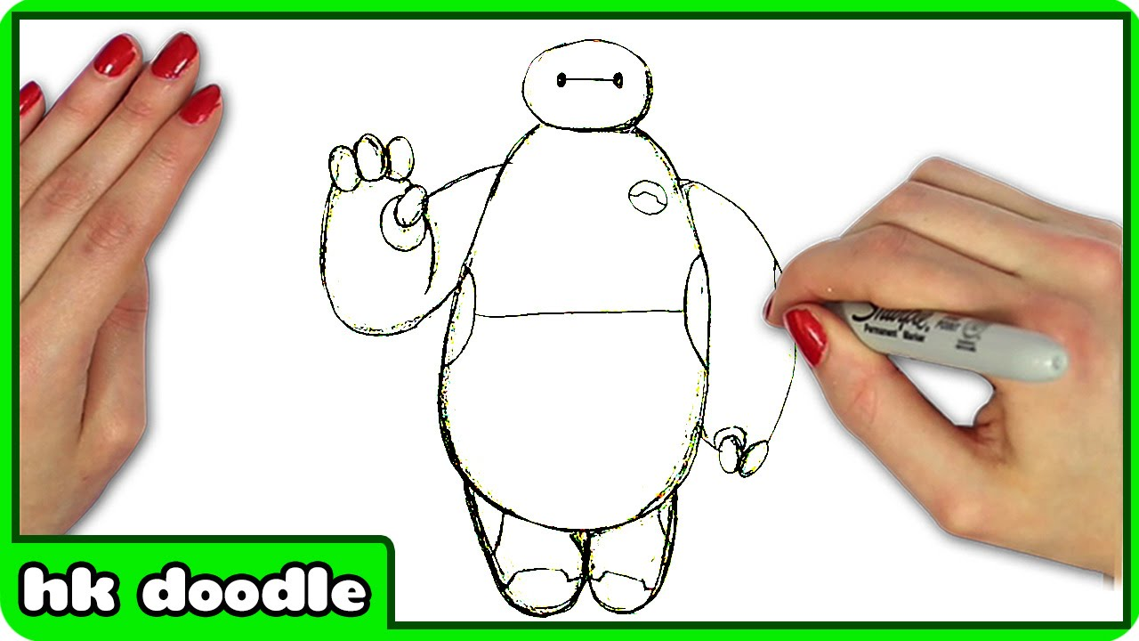How To Draw Baymax From Disney S Big Hero 6 Easy Superhero Step By