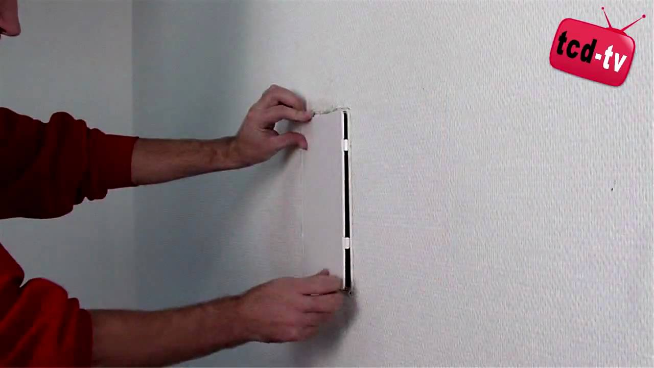 Access Panel   How To Install A Plastic Access Panel Reversable   YouTube