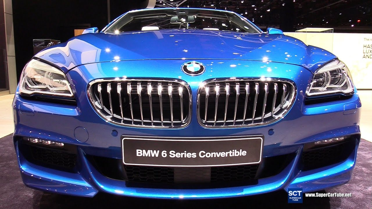 2017 Bmw 6 Series 650i Xdrive Convertible Exterior And Interior Walkaround Detroit Auto Show You