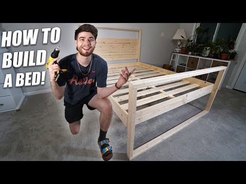 How to Build a Bed | Full Tutorial and DIY For Beginners! EASY!