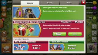 clash of clans 1 Gem Boosting All Resources is back