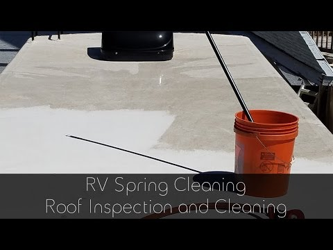 RV Roof Inspection and Cleaning