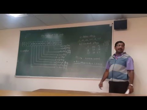 Video Lecture on flags of Intel 8086 Microprocessor by Malatesh