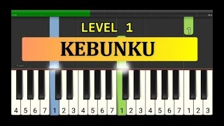 melodi piano lihat kebunku - tutorial piano grade 1 - lagu anak anak indonesia - not pianika