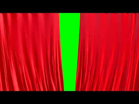 Green screen CURTAINS 4K 60 fps opening closing Free template Intro Chroma key 3D