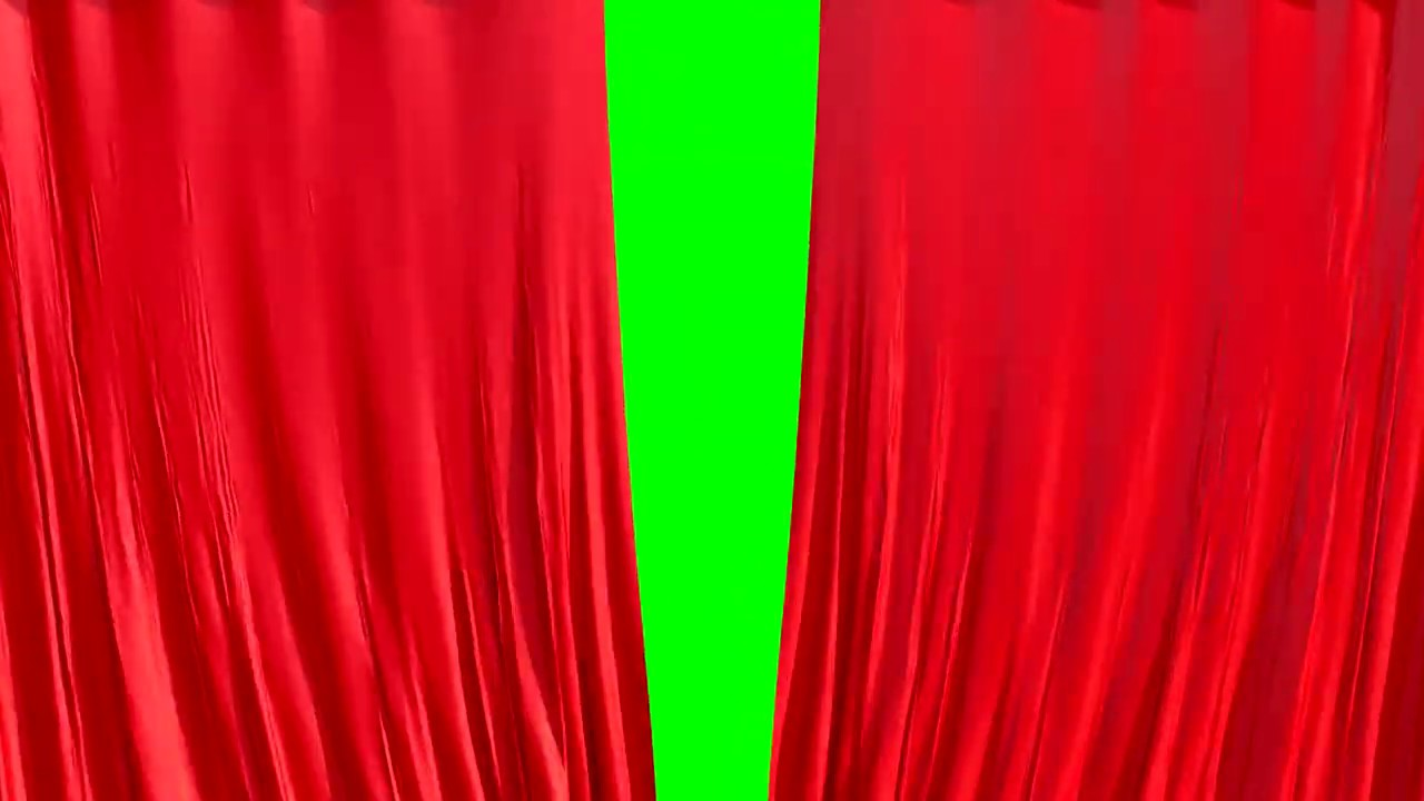 Download Green screen CURTAINS 4K 60 fps opening closing Free template Intro Chroma key 3D