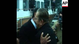 UPITN 30 3 74 EGYPTIAN PRESIDENT SADAT MEETS TITO IN BELGRADE