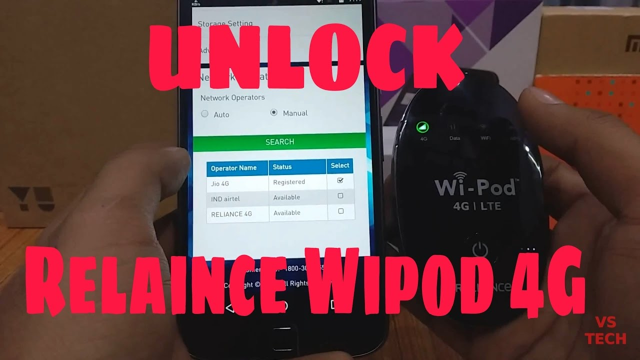 Can Reliance Wipod 4G be UNLOCKED? Jio Sim in Wipod?