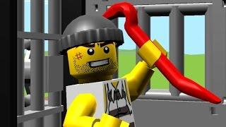 ЛЕГО мультик - Полицейский и собака ловит бандита. Lego City.