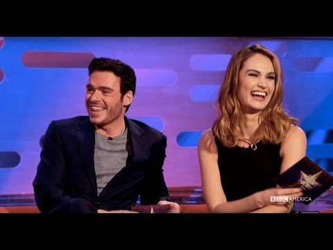 Graham Puts Richard Madden & Lily James's Chemistry To The Test  The Graham Norton
