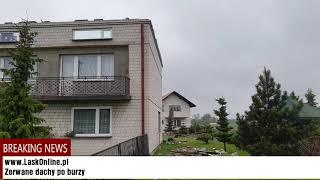 Zerwany dach w Woli Buczkowskiej