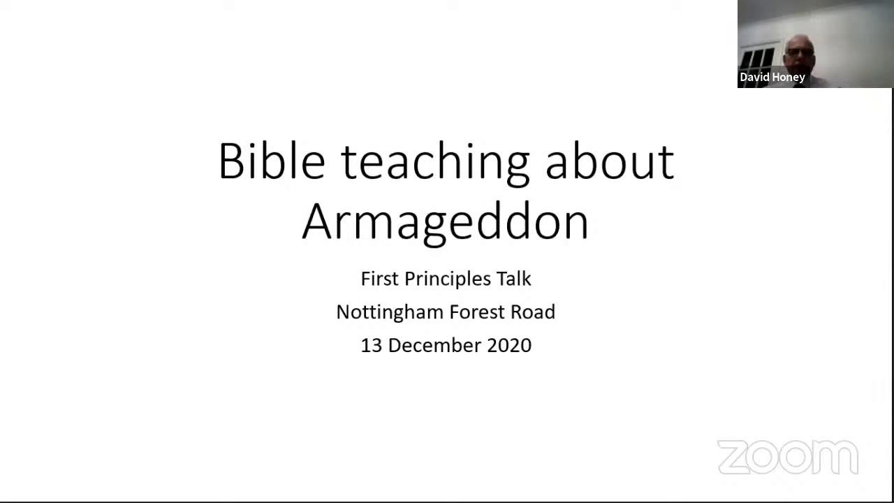 Bible teaching about Armageddon