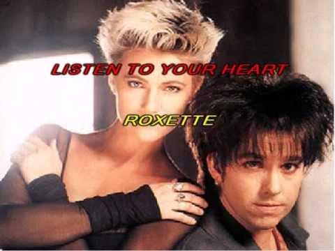Roxette-Listen To Your Heart (karaoke,text)