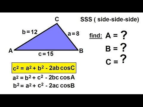 Precalculus Trigonometry The Law Of Cosines 10 Of 15