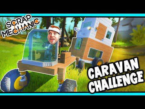 Scrap Mechanic! - CARAVAN CHALLENGE! Vs AshDubh - [#29]   Gameplay  