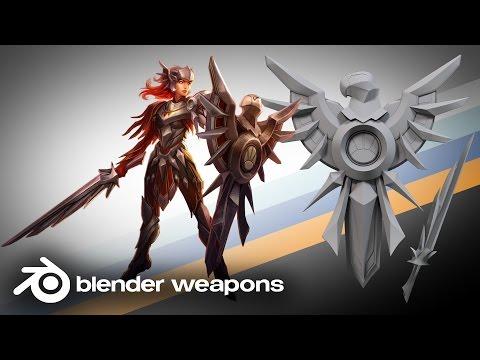 League of Legends - Iron Solari Leona Sword and Shield - BLENDER WEAPONS (Blender)