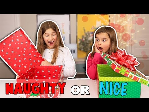 NAUGHTY OR NICE CHRISTMAS CHALLENGE we also unboxed a giveaway we won from YouTube · Duration:  9 minutes 34 seconds