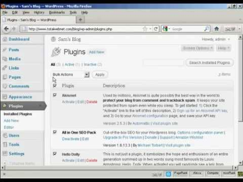 Watch  Wordpress how to  Update plugins - Wordpress Plugin Update