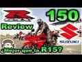 Nueva Suzuki GSX-R 150 | Review | Mejor que la Yamaha R15? en Español con Blitz Rider