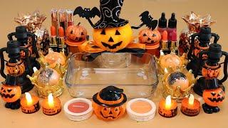 "Mixing""Halloween"" Eyeshadow and Makeup,parts,glitter Into Slime!Satisfying Slime Video!★ASMR★"