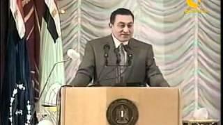 مبارك فى موقف كوميدي يذاع لاول مرة