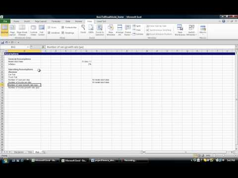 A 60 Minute Recipe for creating a Simple Project Finance Model - Part 1