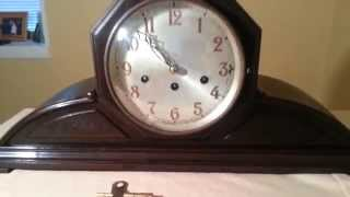 Huge Junghans Wurttemberg Westminster Chime A42 Octagonal Tambour Mantel Clock ~ See Video