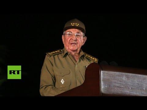 """Raúl Castro: """"Cualquier estrategia que pretenda destruir a la Revolución fracasará"""""""