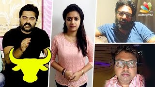 Keerthi Suresh and Simbu speech on Jallikattu Protest | D Imman, Director Ram