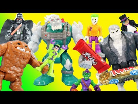 Mega Monsters Halloween Story with DC & Marvel Villains & Super Heroes!