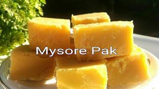Mysore Pak lll Ghee Mysore Pak Recipe lll Very Soft and Delicious lll