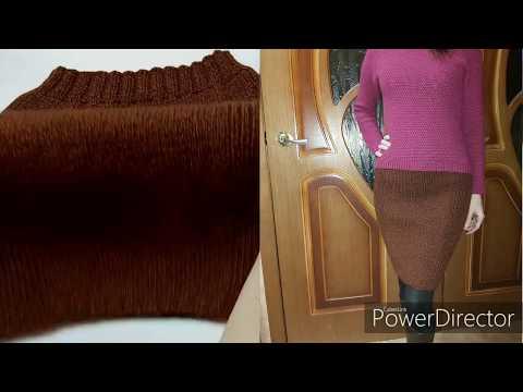 Как связать спицами юбку карандаш