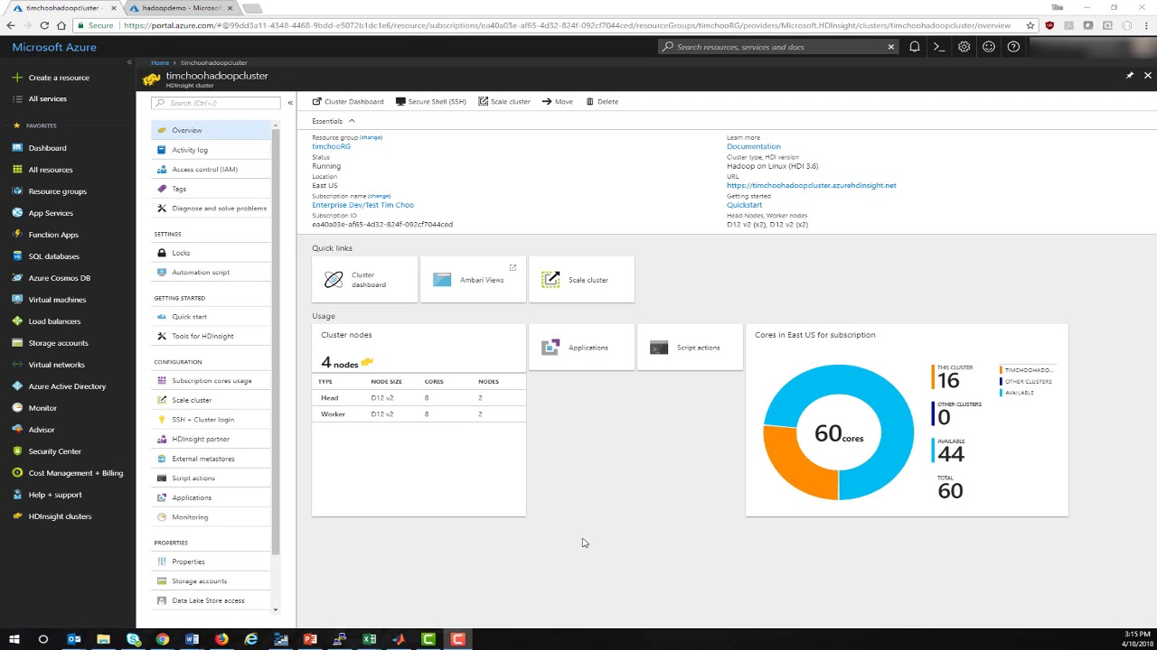 Getting Started: Deploying MATLAB Big Data Applications to Microsoft  HDInsight