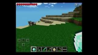 Minecraft Pocket Edition - Unlimited Diamonds and Lava Glitch 0.7.4 iPod/iPad/iPhone