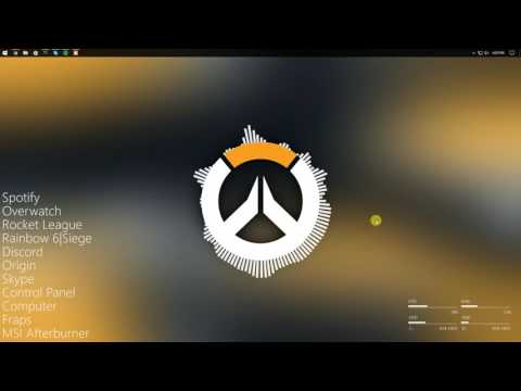 I put together a clean and simple Overwatch desktop using