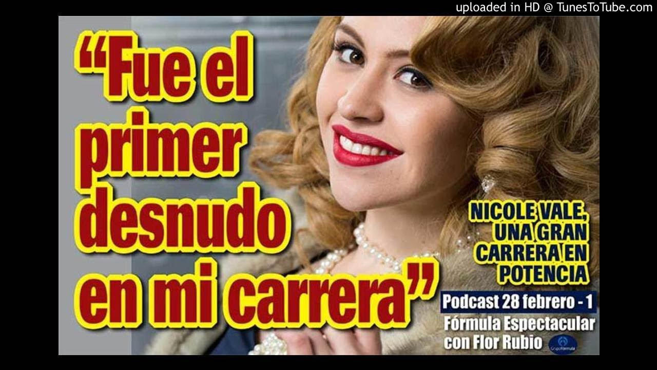 Nicole Vale Fue Mi Primer Desnudo Fórmula Espectacular Con Flor Rubio 28 Feb 1