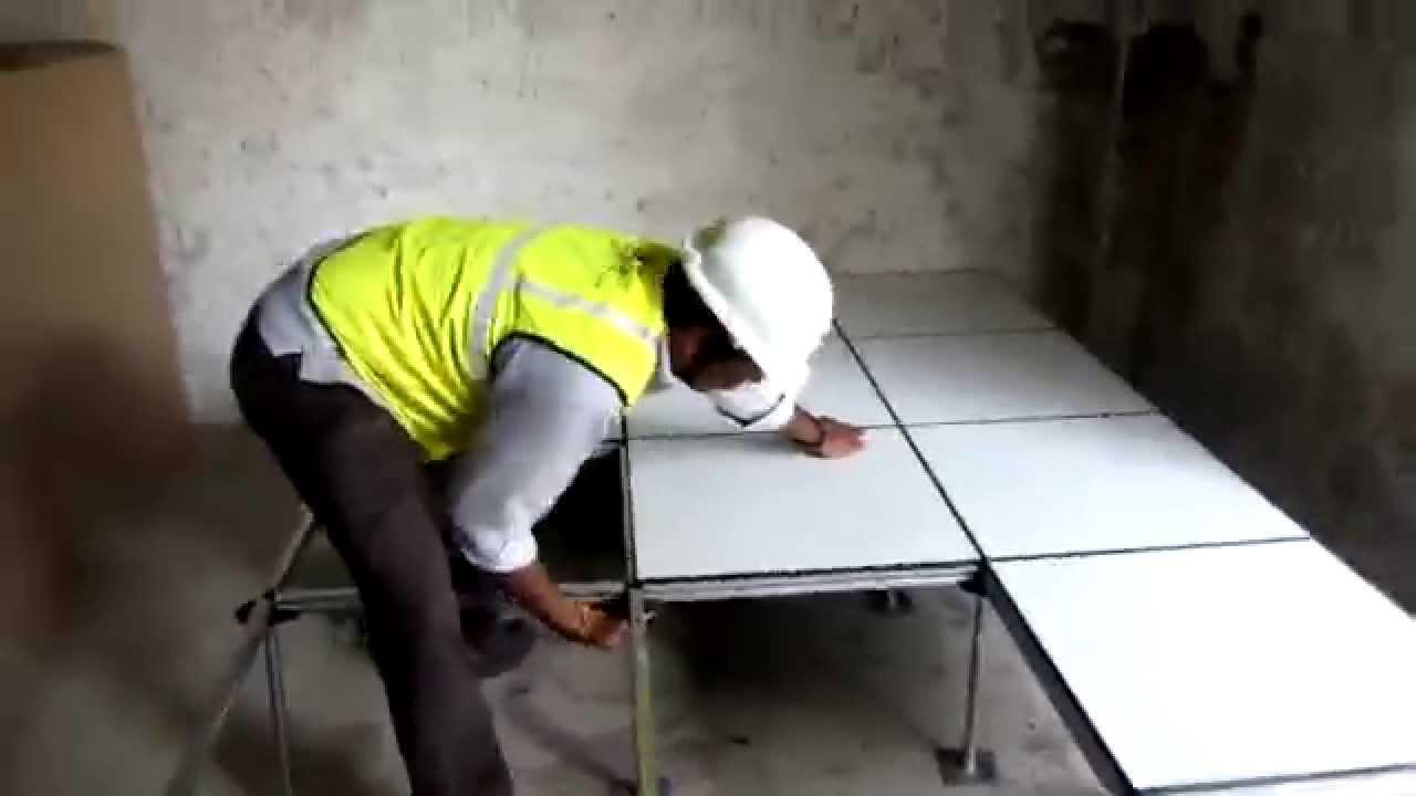 Unitile Raised Access Floor Installation Demo Edge Support Rigid System Youtube