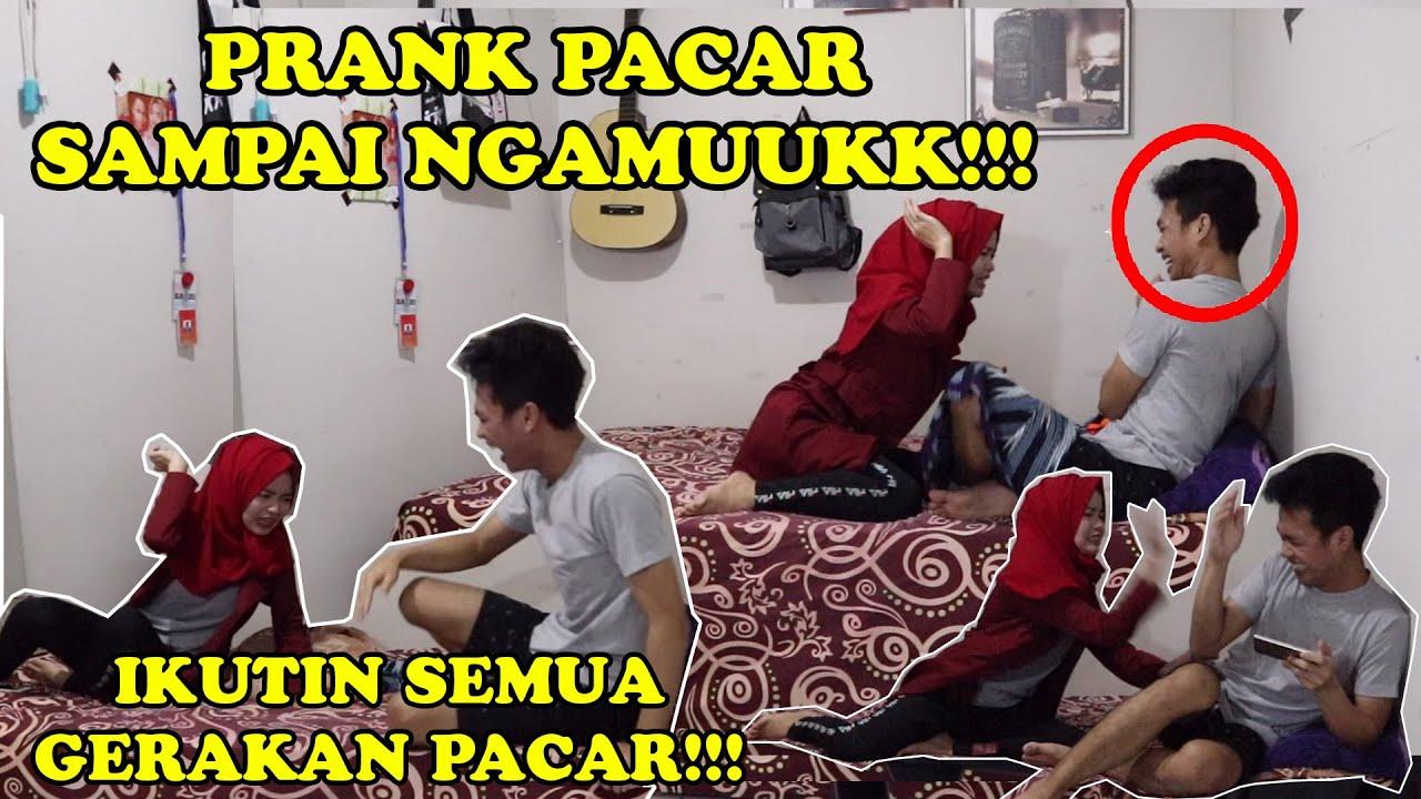 PRANK PACAR SAMPAI NGAMUUKK!!! || IKUTIN SEMUA GERAKAN PACAR TERSAYANG