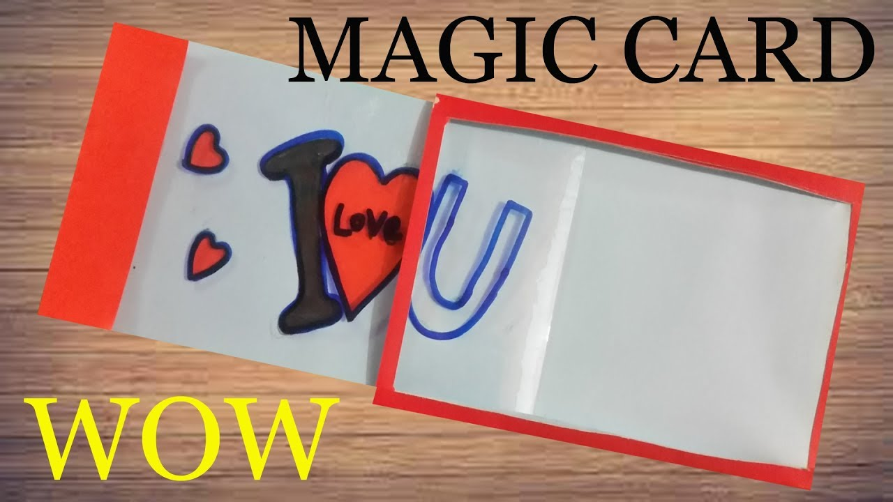 Make MAGIC CARD( easy tutorial) DIY crafts.. Greeting card