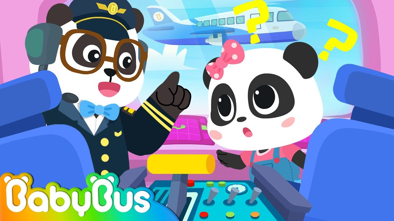 First Time on an Airplane✈ | Little Baby Panda World10 | Nursery Rhymes | Kids Songs | BabyBus