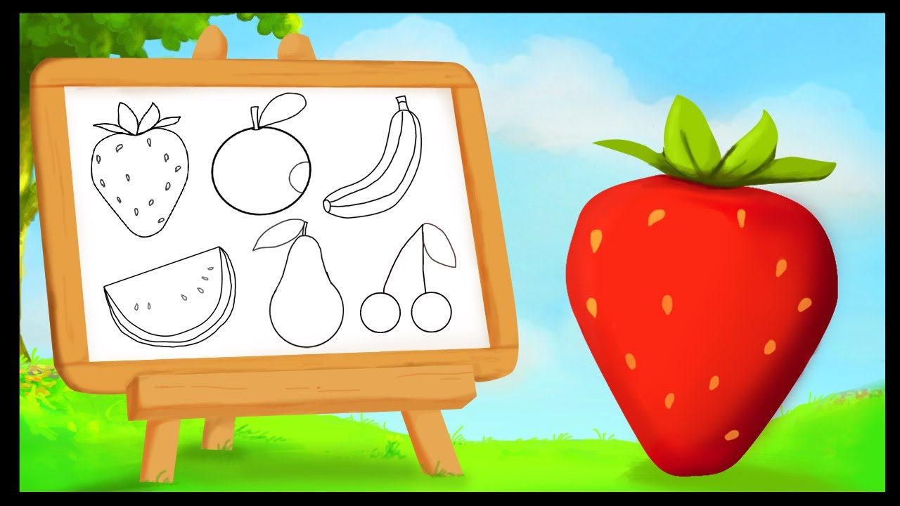 Fruit Dessin comment dessiner les fruits ? - youtube