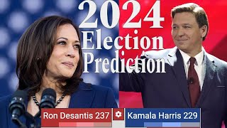 2024 Election Prediction | Ron Desantis vs. Kamala Harris